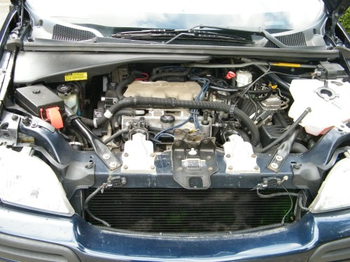 View of the 2003 CHevy Venture with hood opened